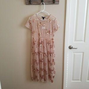 NWT MESH & SEQUIN DRESS